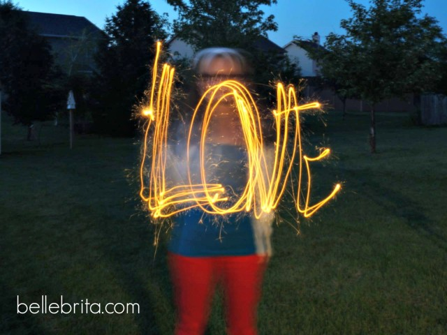 4th of July sparklers and love