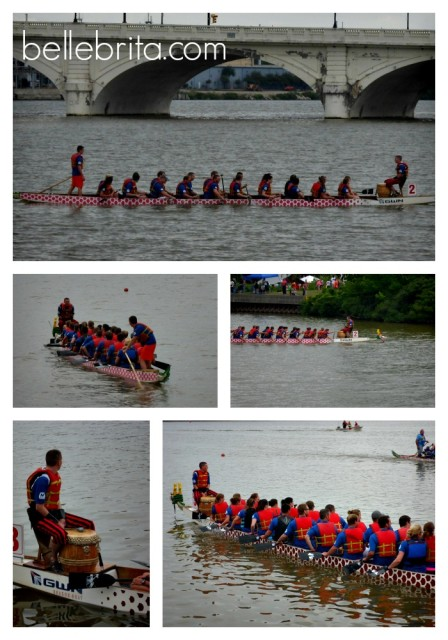 Marathon Marauders competing dragon boat race Toledo 2014