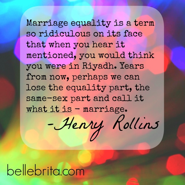 Henry Collins on Marriage Equality