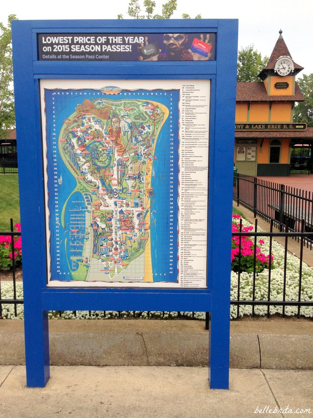 Memorize this Cedar Point map in order to have the best trip ever at Cedar Point!