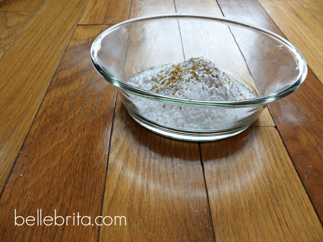 All dry ingredients glass bowl