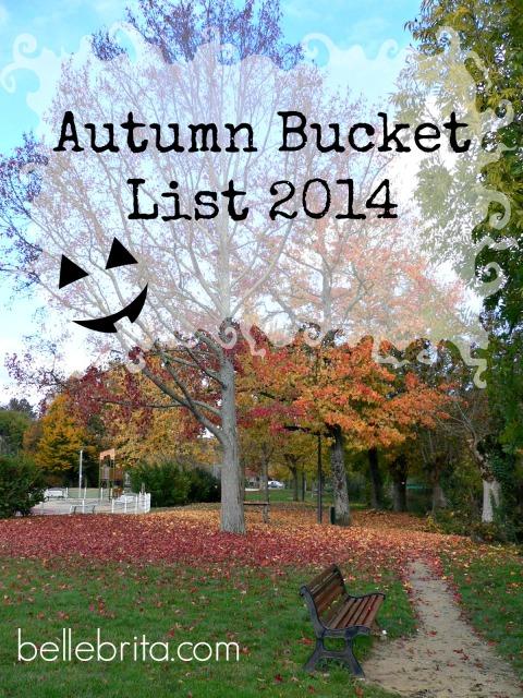 Autumn Bucket List 2014 #fall