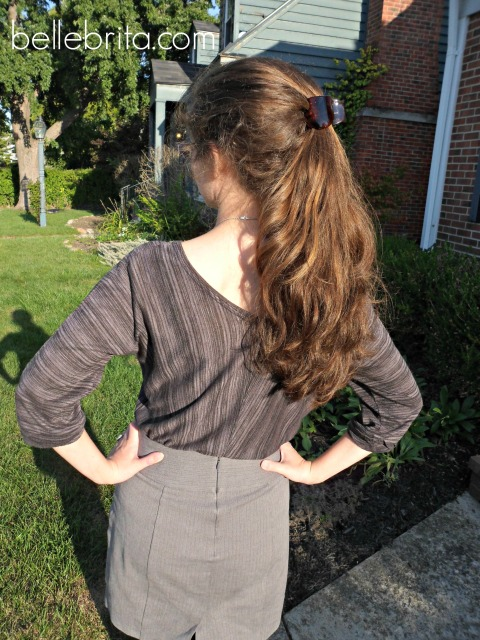 Double ponytail, replicated from Pinterest #hair #style