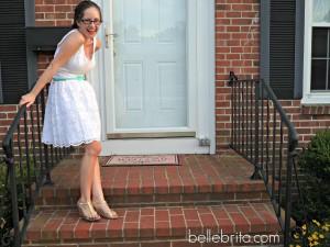 Lilly Pulitzer white eyelet dress