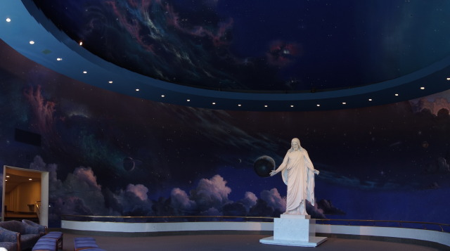 Beautiful art in the North Visitors' Center in Temple Square #travel #Jesus #Utah