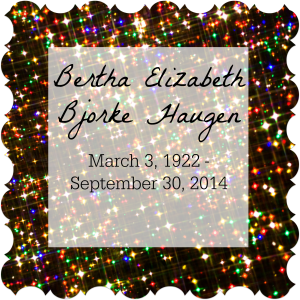 Saying good-bye to Grandma Bertha Haugen