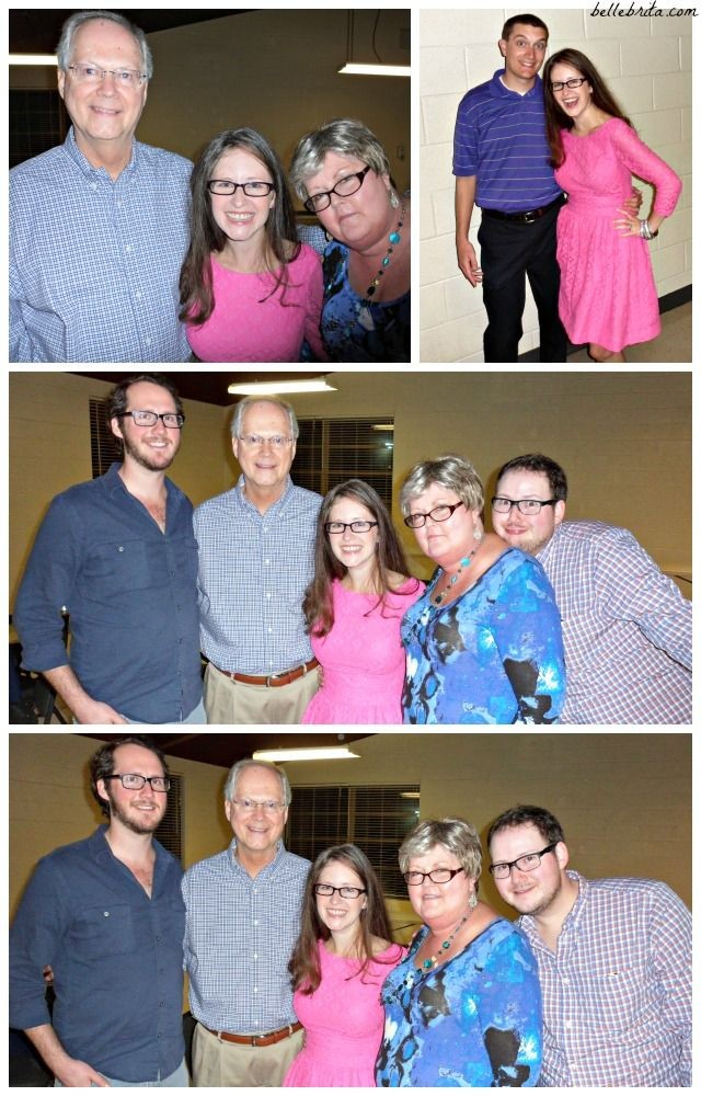 Family pictures at my twin brother's rehearsal dinner.