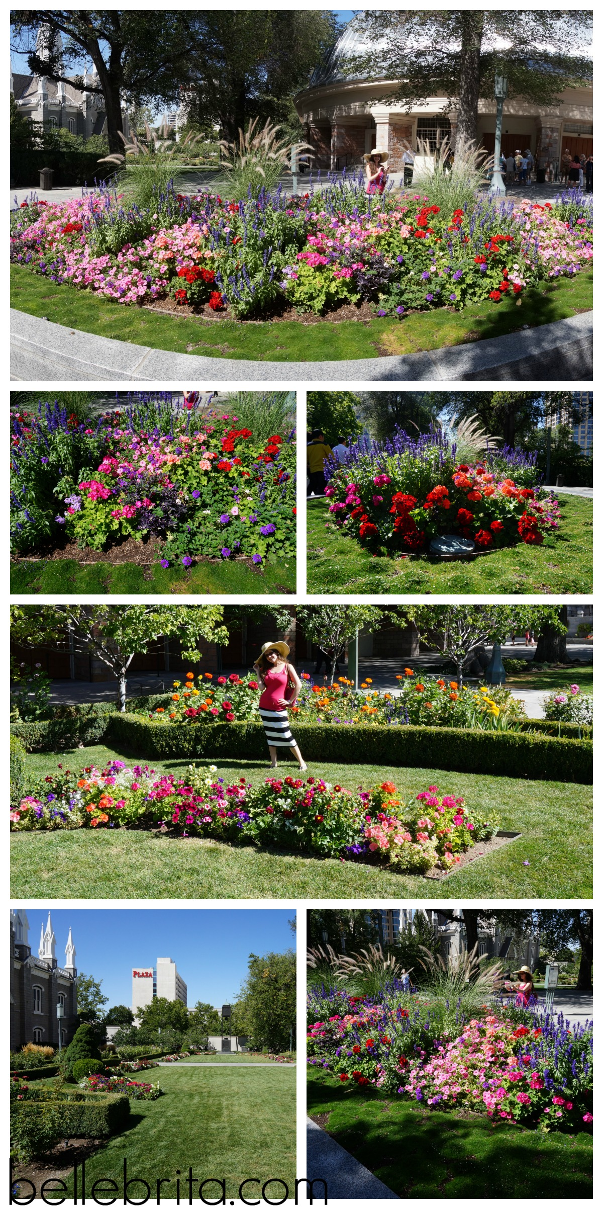 Admiring the gardens in Temple Square. Follow the link to learn more about this historic area! #travel #Utah