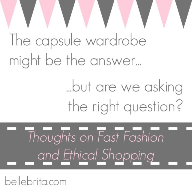 Capsule wardrobes are a great solution to an over-stuffed closet... But is our closet the real problem?
