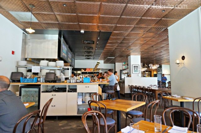 Notice the copper ceiling tiles at The Copper Onion #decor