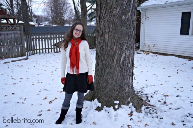 Enjoying the snow in my cozy sweater from @LOFT #cozy #style