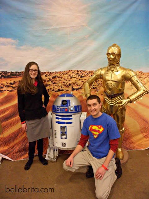 Hanging out with C-3PO and R2-D2 at the Steel City Comic Con! #nerdy