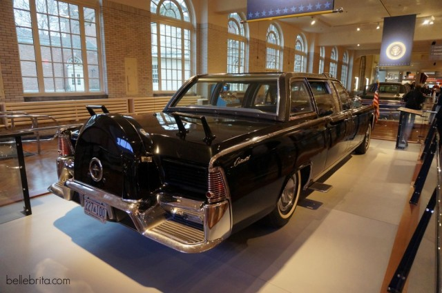 The Henry Ford Museum features JFK's presidential car, the one in which he was assassinated.