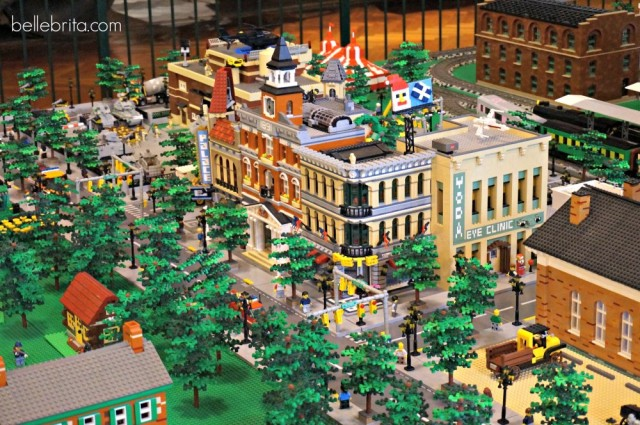A close-up of the Lego city in the Ford Museum in Michigan.