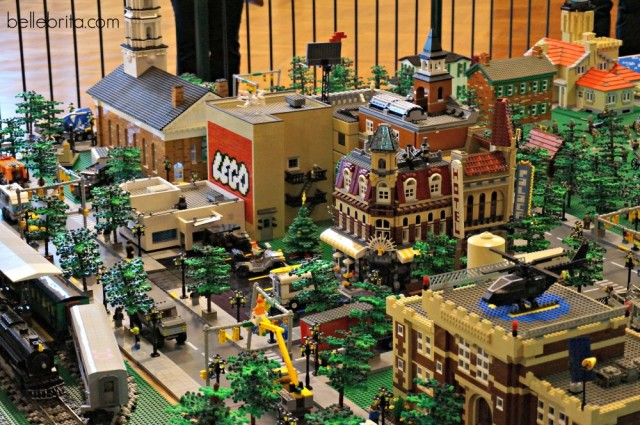 Close-up of the Lego city at the Henry Ford Museum