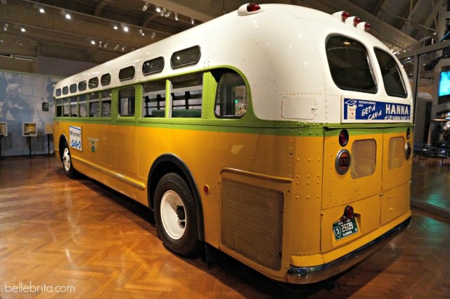 The bus where Rosa Parks started a historic boycott.