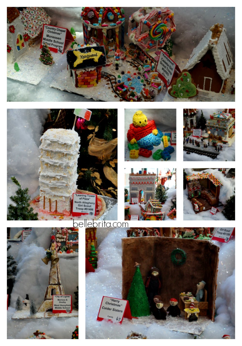 So many creative gingerbread houses!