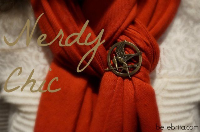 My nerdy chic style definitely involves little touches like my #Mockingjay pin! #jewelry