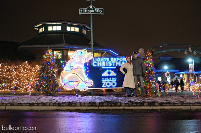 Visiting the Toledo Zoo's The Lights Before Christmas
