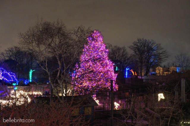 Pink Christmas tree at the Toledo Zoo