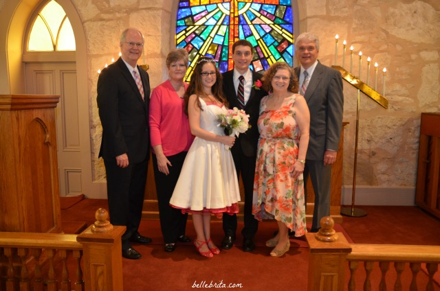 The bride, groom, and their parents!