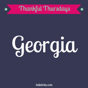 Thankful Thursday: For the Love of Georgia
