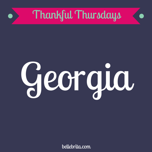 This month, I'm thankful for my new life in Georgia!