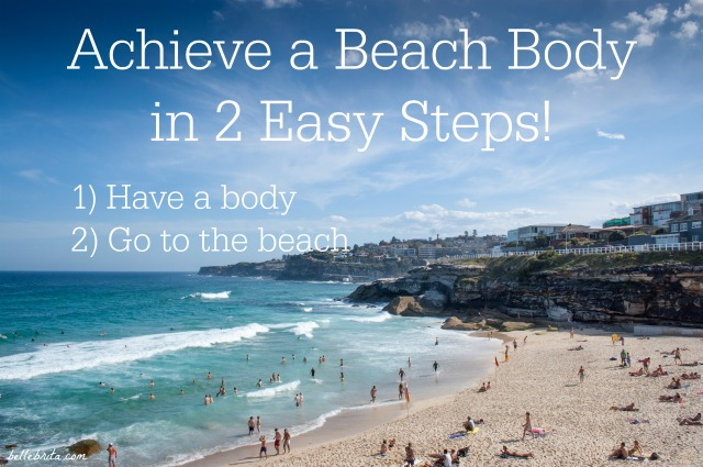 Concerned about having a beach body or a bikini-ready body? Follow these 2 easy steps! #feminism