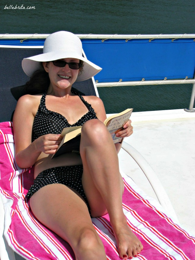 I wear a bikini on a boat or at the beach because my bikini fits my body, unlike one-pieces or tankinis.