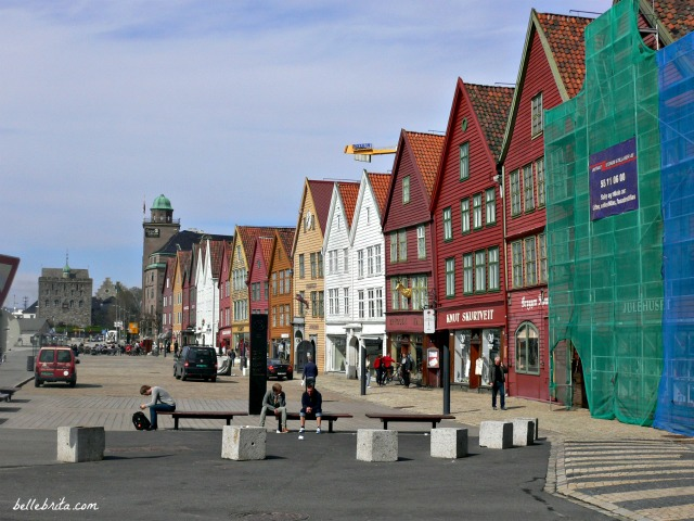 Bergen, Norway is a beautiful coastal town with brightly-colored buildings #travel