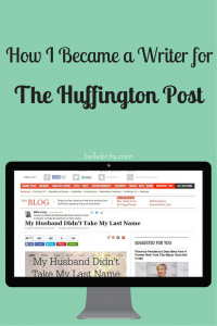 How did I start writing for The Huffington Post? A little bit of skill and a whole lot of luck.