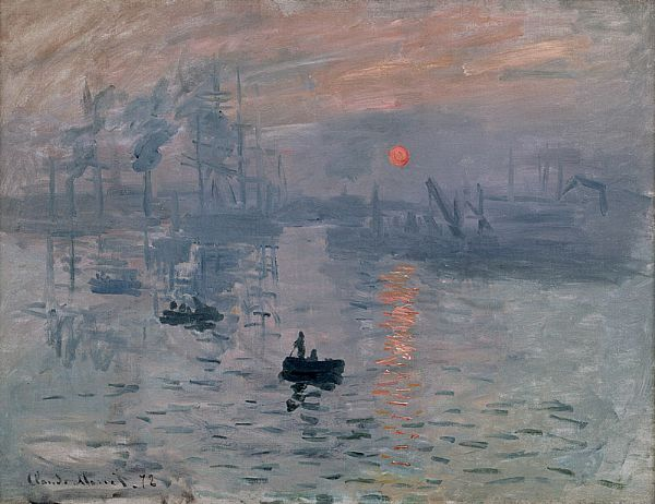 The beautiful Impressionist Monet painting at the Musée Marmottan-Monet.