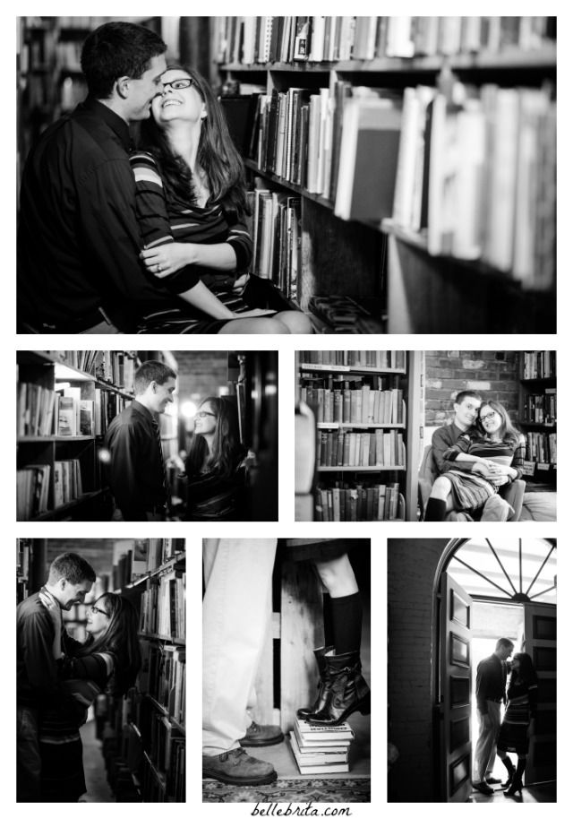 Black and white photography for a book-themed shoot.