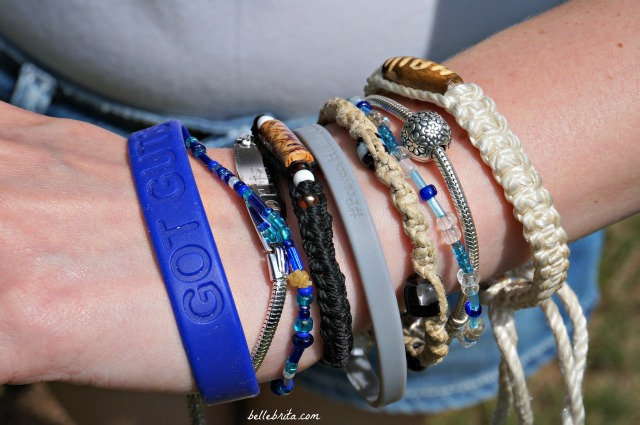 Old bracelets gain new life when paired with a ton of other bracelets.