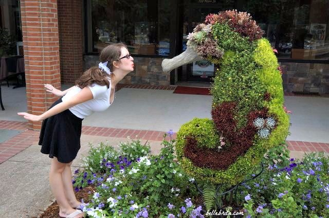 South Carolina's Festival of Flowers features many beautiful topiaries in Uptown Greenwood
