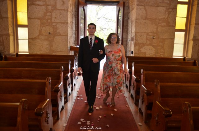 I was only comfortable with my dad walking me down the aisle if Dan's mom walked him down the aisle