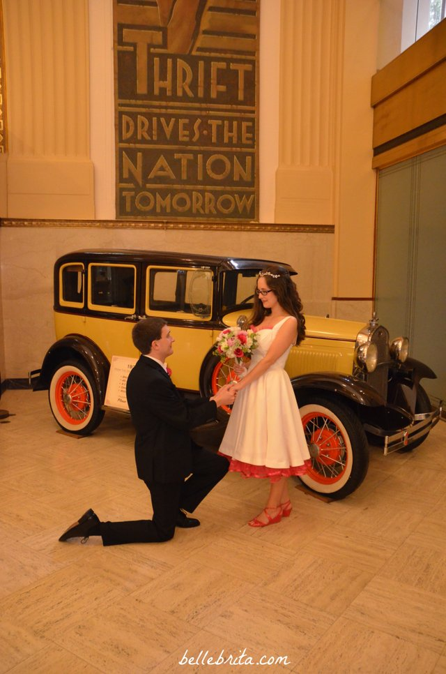 With Dan's love for nice cars, we snapped a few pre-wedding photos with this antique car