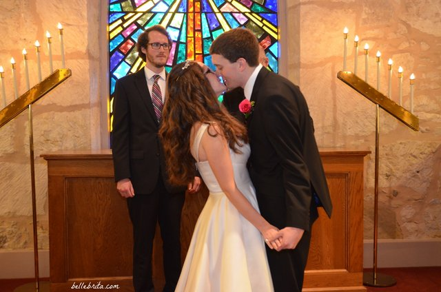 Our first kiss as husband and wife!
