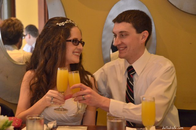Toasting the bride and groom during our wedding brunch