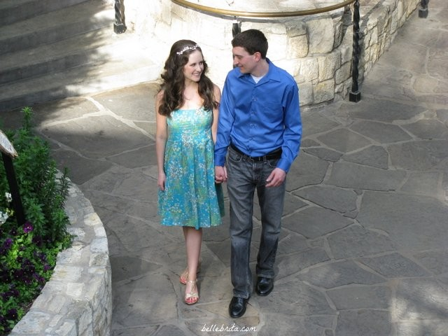 After our wedding rehearsal, we walked along the San Antonio riverwalk