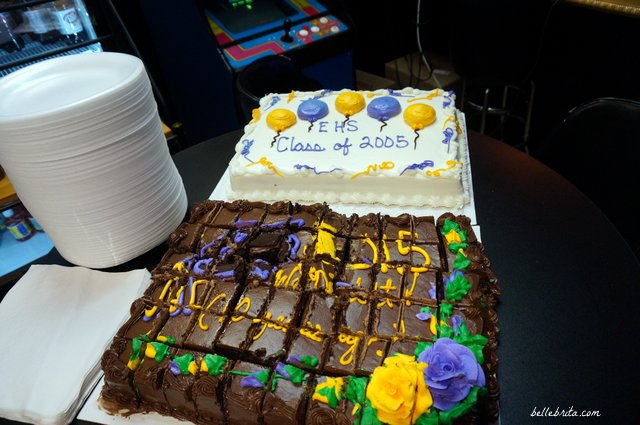Two cakes to celebrate our 10-year high school reunion! Go Vikings!