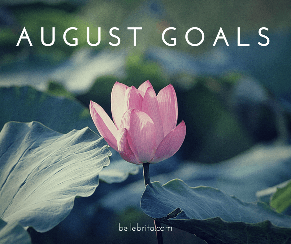 Time to return to goal-setting! I have big plans for August.