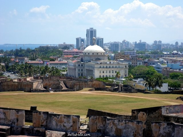 Beautiful view of Old San Juan from Fort San Cristobal
