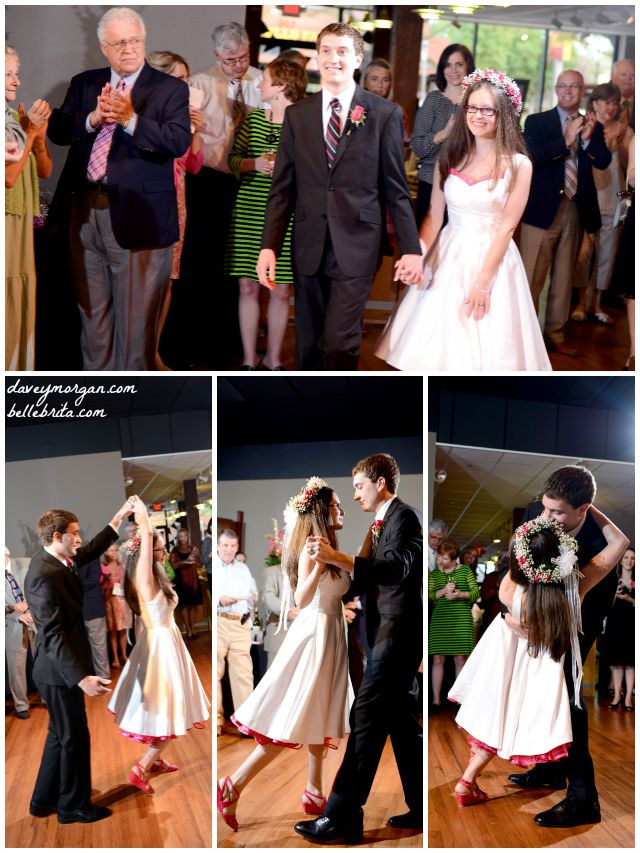 First dance at our wedding reception. I'm so glad we took dance lessons! | Belle Brita