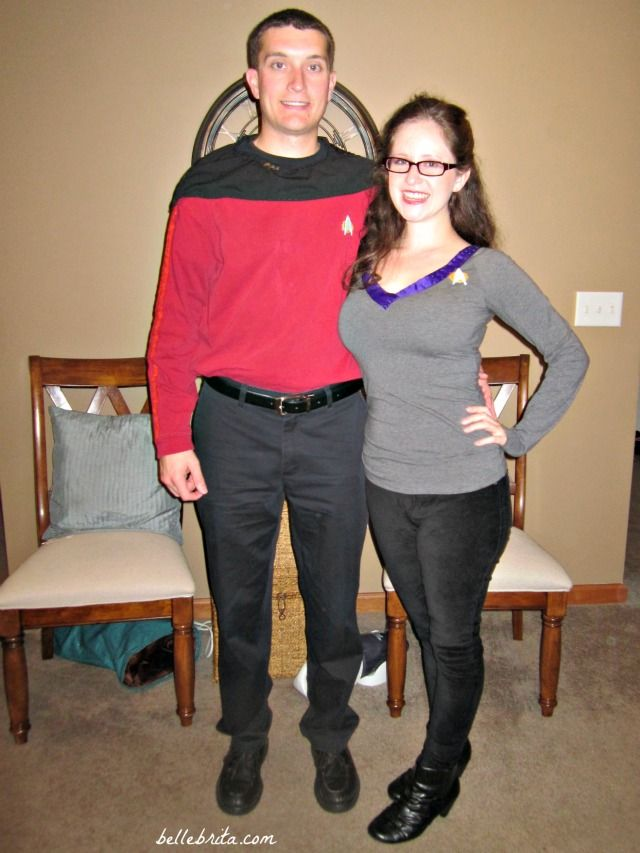 Dressing up as Commander Riker and Counselor Troi for Halloween. Aka nerdy love is the best love! | Belle Brita