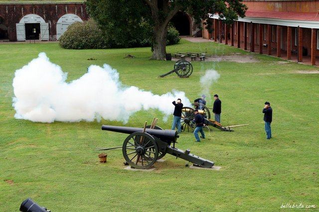 Cannon demonstration at Fort Pulaski in Savannah | Belle Brita
