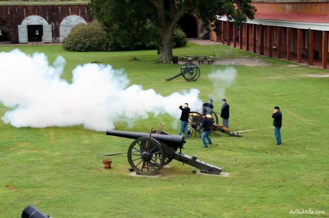 Loud cannon firing at Fort Pulaski in Savannah | Belle Brita