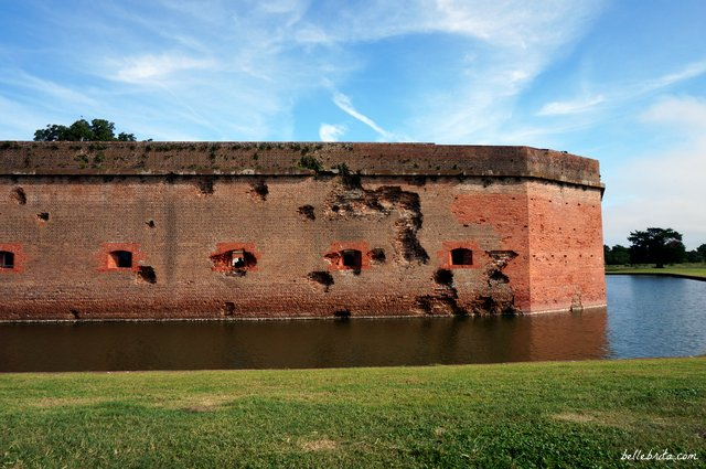 During your romantic weekend getaway in Savannah, Georgia, visit the historic Fort Pulaski. | Belle Brita
