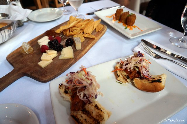 Appetizers during our fancy meal at The Olde Pink House. Part of a romantic weekend getaway in Savannah! | Belle Brita