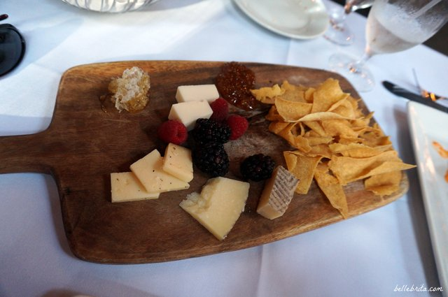 Cheese Plate with Savannah Bee Honeycomb, Seasonal Fruit | Savannah's The Olde Pink House | Belle Brita